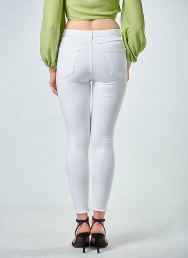 Coral  Skınny Pantolon Optik Beyaz Beyaz